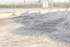 Pile of crushed stone Stock Photo