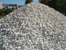 Pile of crushed stone Stock Images