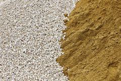 Pile of crushed stone and sand Stock Photography
