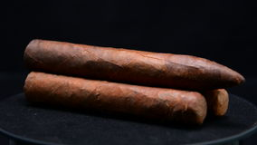 Pile of cuban cigars stock footage