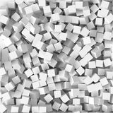 Pile of cubes, 3d style vector illustration. Suitable for any banner, ad, technology and abstract themes Royalty Free Stock Photography