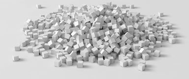 Pile of cubes, 3d style vector illustration. Suitable for any banner, ad, technology and abstract themes Royalty Free Stock Photo
