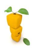 Pile of cubic oranges Stock Image