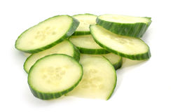 Pile of cucumber slices Stock Image