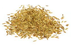Pile of cumin seeds Royalty Free Stock Photos