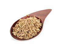 Pile of cumin seeds captured from above Royalty Free Stock Photos