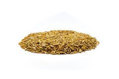 Pile of cumin seeds. Isolated on white background Royalty Free Stock Photos