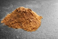 Pile of cumin spice. On grey background Stock Images