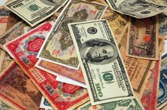 Pile of currency Royalty Free Stock Image