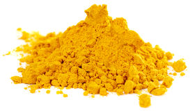 Pile of curry powder Royalty Free Stock Images