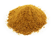 A pile of curry powder isolated on white Stock Photos