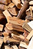 A pile of cut and chopped wood Royalty Free Stock Image