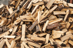 Pile of cut firewood Stock Photography