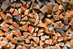 Pile of Cut Logs Royalty Free Stock Photo