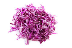 Pile of cut red cabbage Stock Images