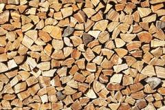 Pile of cut tree logs Royalty Free Stock Image