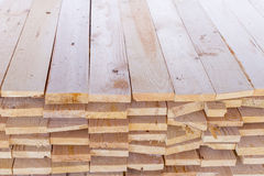 Pile of cut wood for construction texture Stock Images