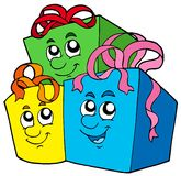 Pile of cute gifts Royalty Free Stock Images