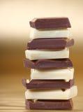 Pile d'accumulation de chocolat Images stock