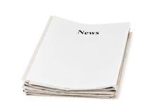 Pile d'actualités de journaux Photos stock