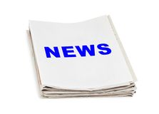 Pile d'actualités de journaux Photographie stock