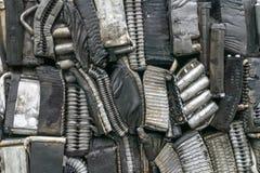 Pile d'aluminium des pièces de voiture Photos stock