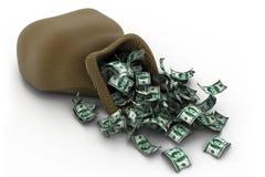 Pile d'argent $100 billets d'un dollar Photos stock