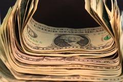 Pile d'argent comptant Photo stock