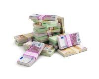 Pile d'argent d'euros Image libre de droits