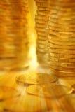 pile d'argent de pièce d'or Image libre de droits