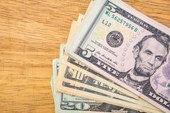 Pile d'argent liquide de dollars US Images libres de droits