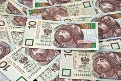 Pile d'argent polonais Images stock