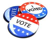 pile 3d des boutons de vote d'élection Photographie stock