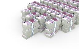 pile 3d di euro contanti Fotografia Stock