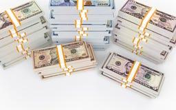 pile 3d di soldi del dollaro Fotografia Stock Libera da Diritti