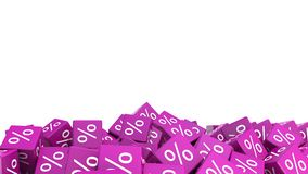 Pile of 3d discount cubes. Background.  Stock Photo