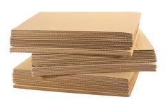 Pile d'en carton ondulé Photos libres de droits