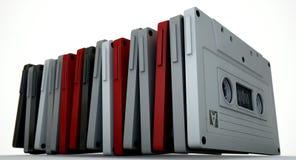 Pile d'enregistreur à cassettes images libres de droits