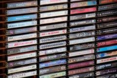 Pile d'enregistreurs à cassettes photo libre de droits