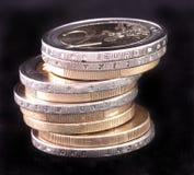 Pile d'euro pièces de monnaie Photographie stock libre de droits