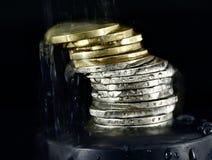 Pile d'euro pièces de monnaie Photo libre de droits