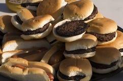Pile d'hamburger Photos libres de droits