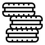 Pile d'icône de biscuit, style d'ensemble illustration de vecteur