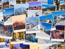 Pile d'images de l'Autriche de ski de montagnes (mes photos) Photographie stock libre de droits