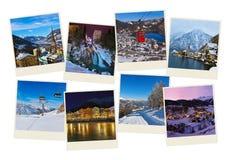 Pile d'images de l'Autriche de ski de montagnes (mes photos) Photos libres de droits