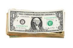 Pile d'isolement de facture de dollar US Photos stock