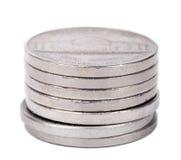 Pile d'isolement de nickels Images stock
