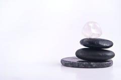 Pile d'isolement de pierres lisses Images libres de droits