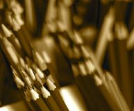 Pile d'objet de crayon - photographie courante Photographie stock libre de droits