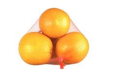 Pile d'orange d'isolement sur le blanc. Images stock